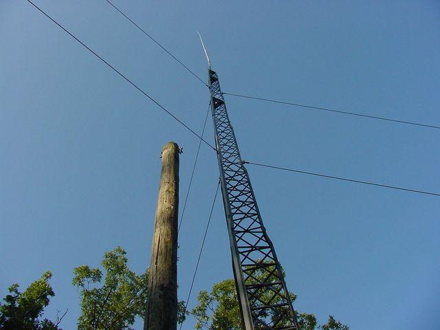 antena-vertical-40m com torre