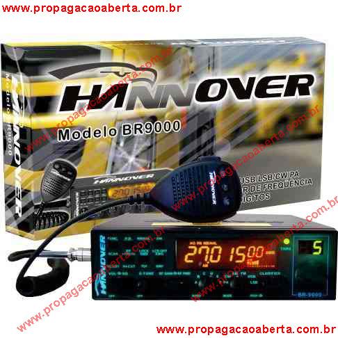 Cabo de programação do radio Hannover BR 900 e software programar hannover copy