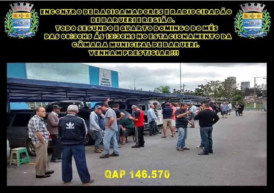 Feirinha feira encontro radioamador radio amador PX barueri são paulo propagação aberta