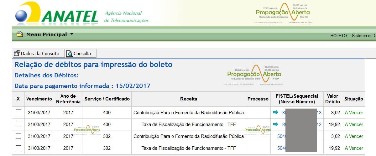 Fistel-boletos-taxas-anatel-2017-impressão-pagamentos-propagação-aberta-